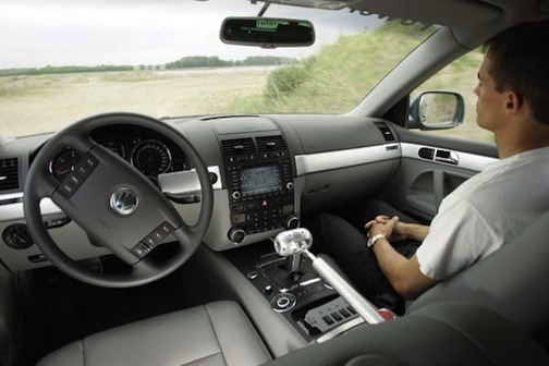Inside a driverless car