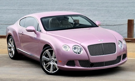 Passion Pink Bentley Continental GT