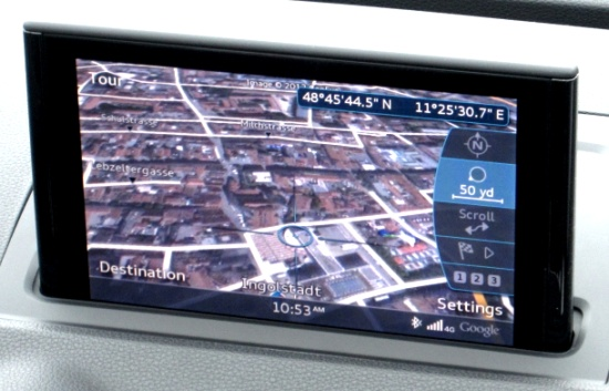 Audi A3 with Google Earth integration