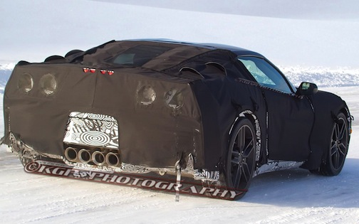 C7 Chevrolet Corvette spy shot, rear
